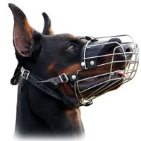 Wire Basket Dog Muzzle for Doberman