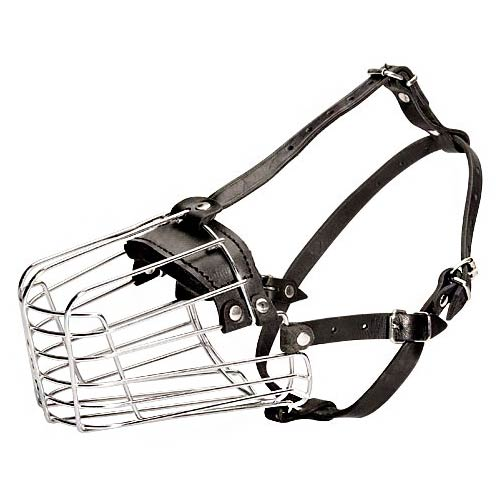 Wire Basket Dog Muzzle - Click Image to Close